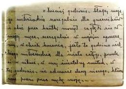Fragment rękopisu Dzienniczka św. s. Faustyny Kowalskiej