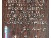 Tablica z tekstem modlitwy papieskiej (fragment zawierzenia świata Miłosierdziu Bożemu) i relikwiarzami z relikwiami, od lewej: Bł. ks. Michała Sopoćki, Św. Siostry Faustyny i Bł. Jana Pawła II
