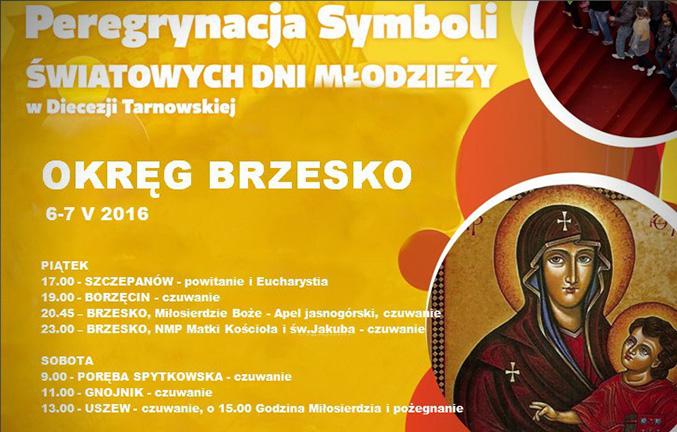 Peregrynacja Symboli ŚDM w Okręgu brzeskim (Diecezja Tarnowska)
