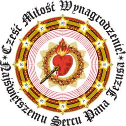 Cześć Miłość Wynagrodzenie Najświętszemu Sercu Pana Jezusa - logo Honorowej Straży NSPJ