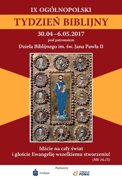 IX Ogólnopolski Tydzień Bilijny - plakat