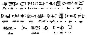 Pismo klinowe - reprodukcja