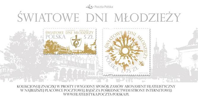 Znaczek pocztowy ŚDM Kraków 2016
