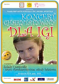 Koncert Charytatywny dla Igi - plakat